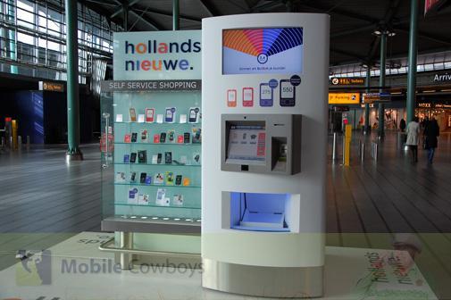 Eerste automaat voor mobiele abonnementen in Nederland