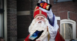 Sinterklaas met smartphones